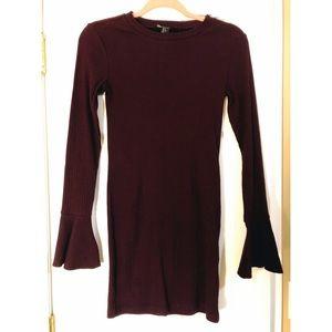 NWOT Forever 21 Plum Sweater Dress